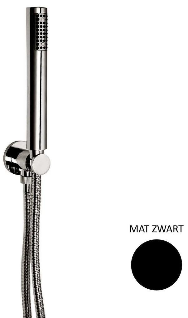 Handdoucheset Sanimex Giulini met Ophanghaak en Doucheslang Mat Zwart