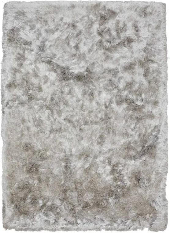 Zilveren Zitzak Kwantum.Vloerkleed Celina Zilver Biano
