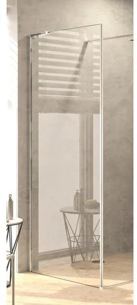 Royal plaza Gentile zijwand voor walk in 88,5-90x200cm glans zilver profiel en helder TimeLess glas 71928