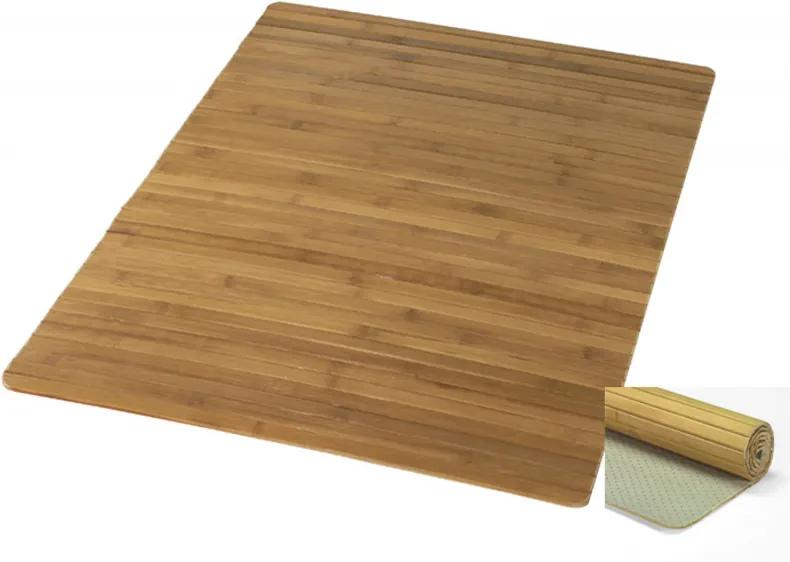 Bambus Houten badmat b50xd80xh0,5 cm, natuur