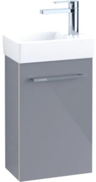 Villeroy & Boch Avento wastafelonderbouwkast 1 deur 34x51.4x20.2cm rechts crystal white A87601B4