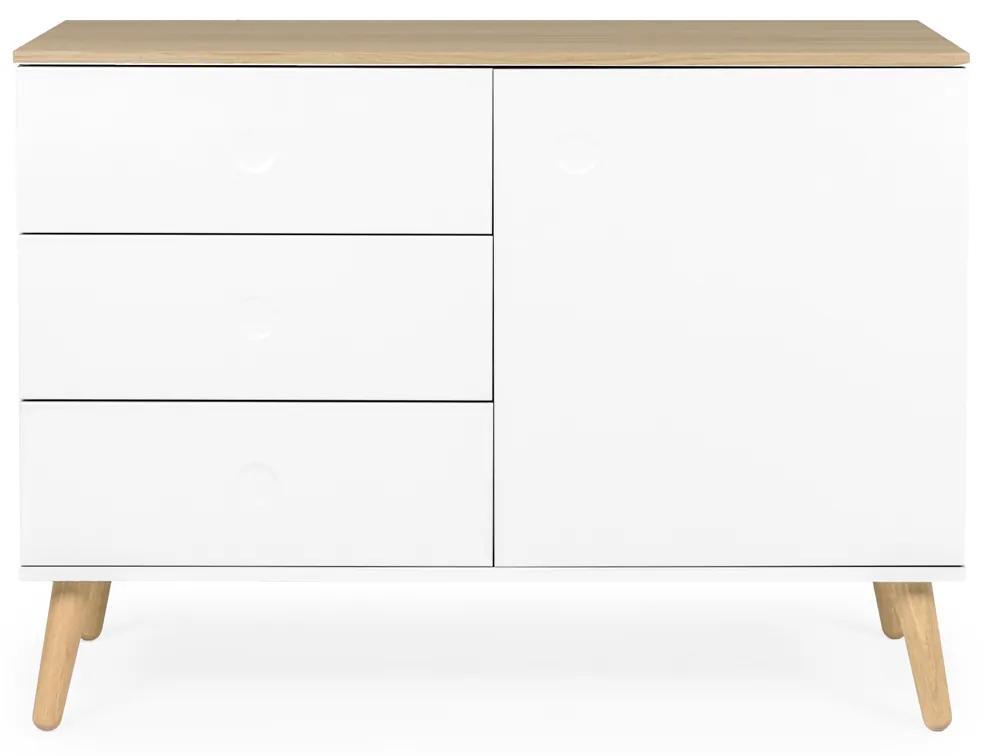 Tenzo Dot Lage Wandkast Wit - 109x43x79cm.