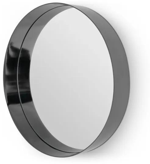 Alana extra grote ronde spiegel, 80 x 80 cm, zwart nikkel