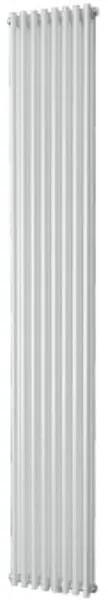 Plieger Venezia M designradiator dubbel verticaal met middenaansluiting 1970x304mm 1168W zandsteen 7253086