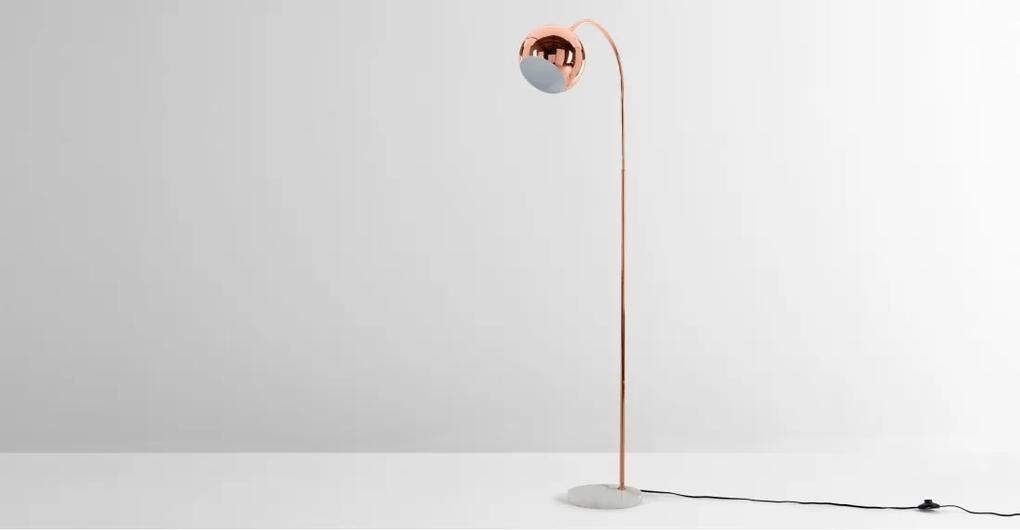 Eli staande lamp, koper en wit marmer