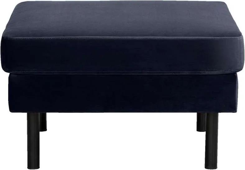 Hocker Collin - velvet - donkerblauw - 46x78x78 cm - Leen Bakker