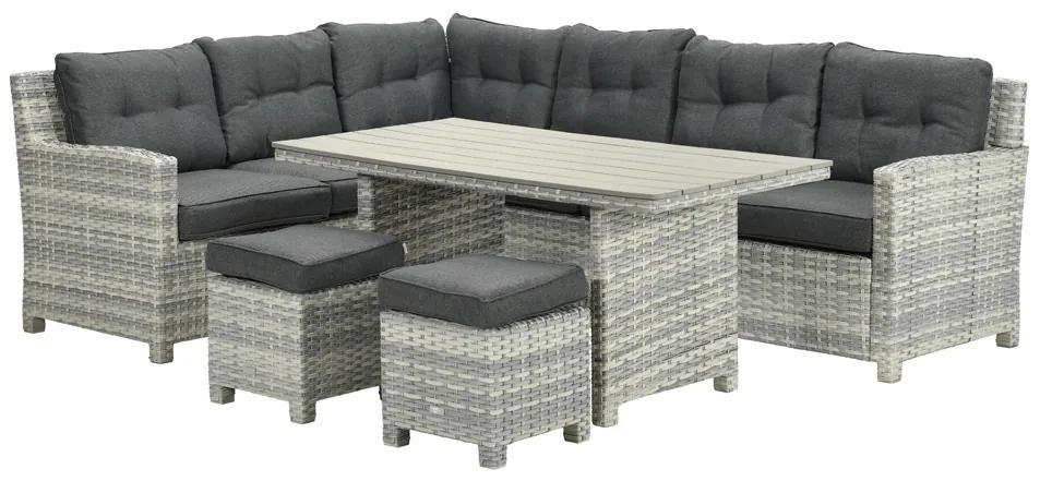 Garden Impressions Alazio lounge diningset - Links - Cloudy Grey