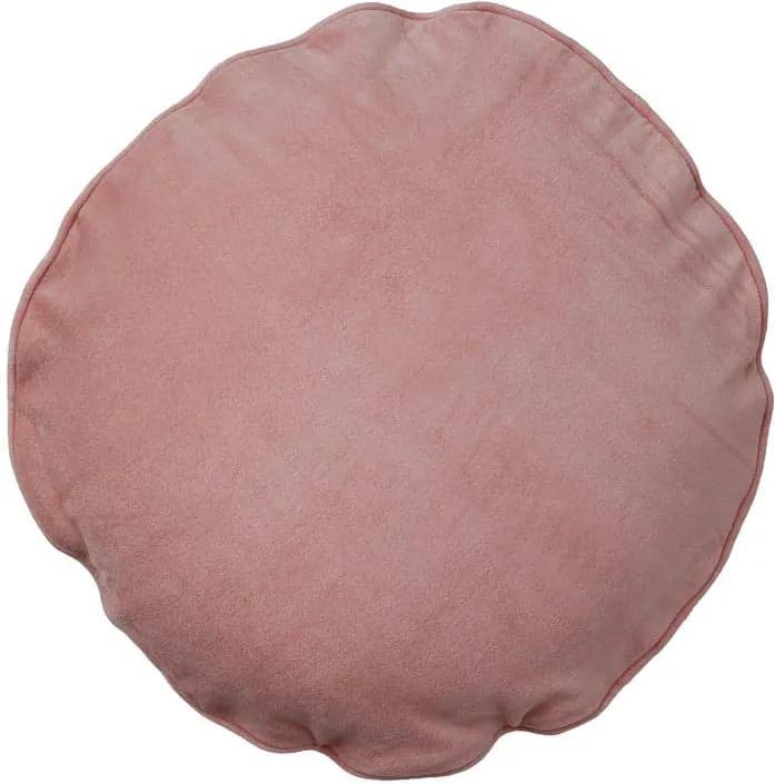 Kussen roze, velvet Blush, rond Zonder binnenkussen