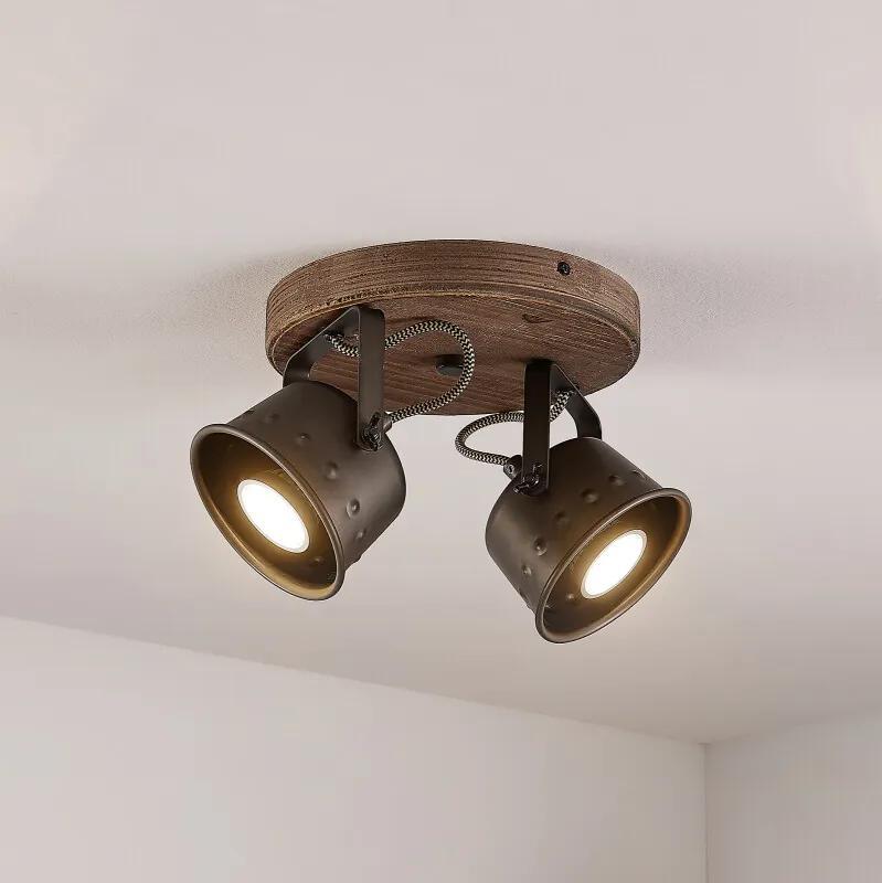 Rubinjo plafondspot, 2-lamps rond - lampen-24