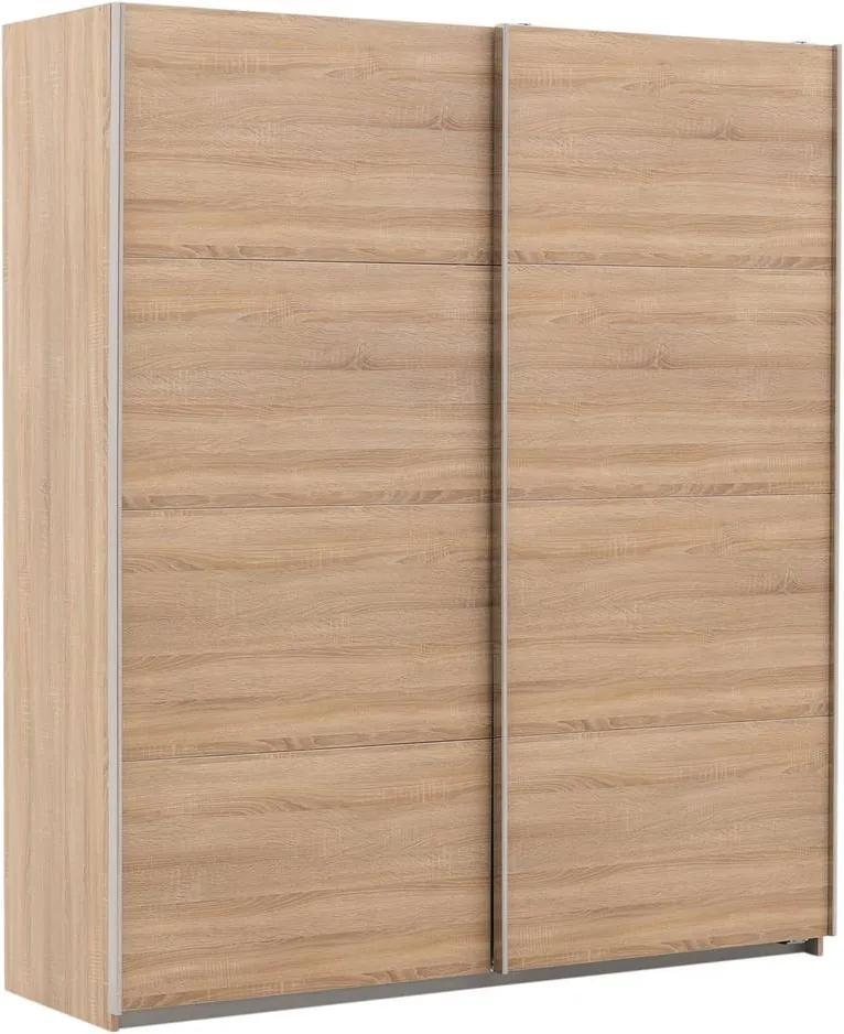Goossens Basic Kledingkast Miami, 271 cm breed, 210 cm hoog, 2x schuifdeuren
