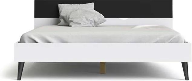 Bed Delta - wit/mat zwart - 180x200 cm - Leen Bakker