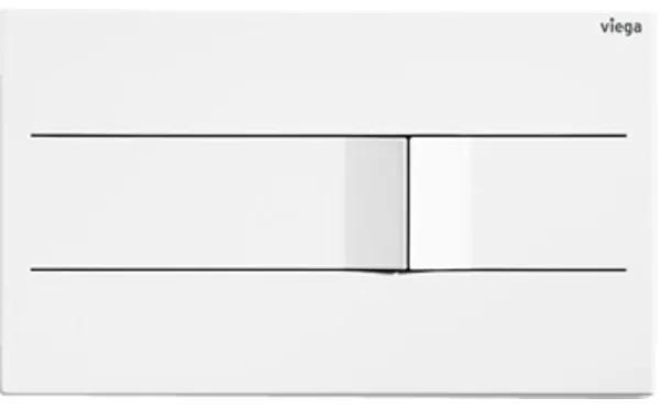 Viega Prevista bedieningsplaat visignformore201 13x22cm RVS wit 773502