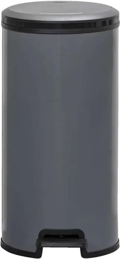 Pedaalemmer Decobin - lichtgrijs - 58,9x29,5x33,6 cm - Leen Bakker