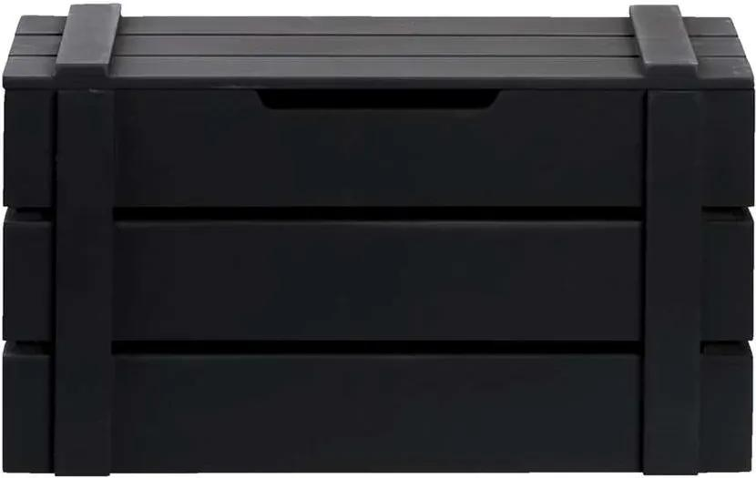 Kist Raaf - zwart - 19x34x17 cm - Leen Bakker