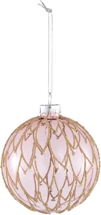 Christmas Diva Kerstbal Diva - Roze S