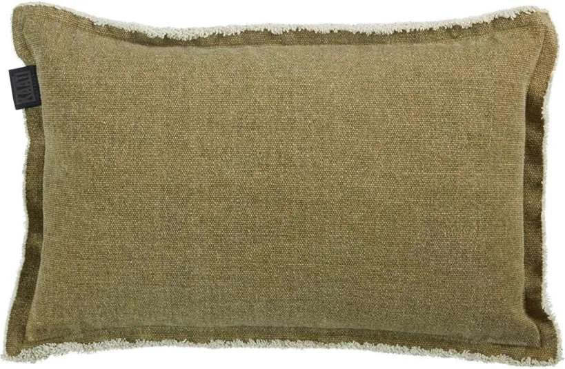 KAAT Amsterdam sierkussen Sahara - olijfgroen - 30x50 cm - Leen Bakker