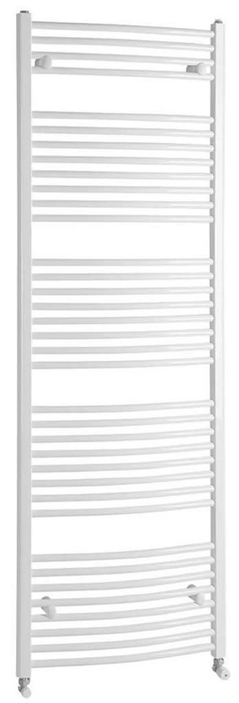 Handdoekradiator Sapho Aqualine Radiators Gebogen 186.8x60 cm Wit