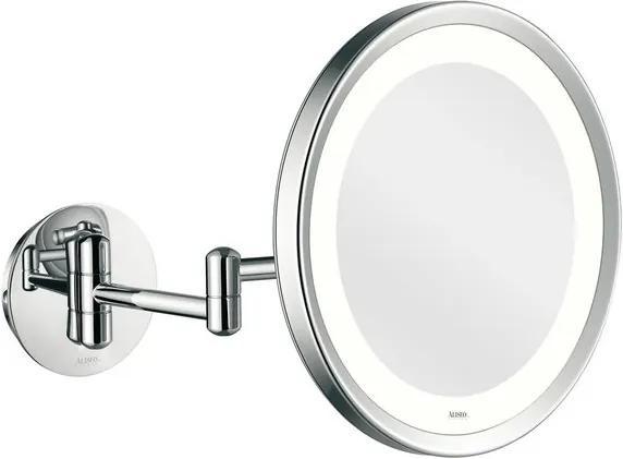 Aliseo LED Lunatec make-up spiegel 24cm messing/staal chroom 020601