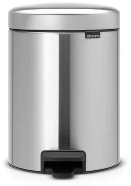 Brabantia pedaalemmer 5 liter newIcon met kunststof binnenemmer matt steel 112645