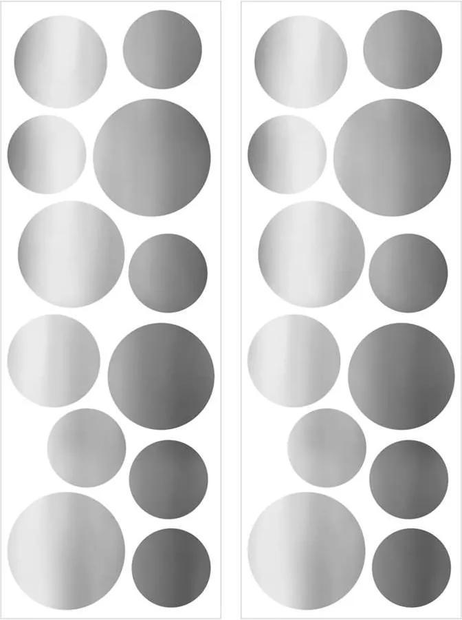 Art For The Home muurstickers Stippen - zilver - 70x25 cm - Leen Bakker