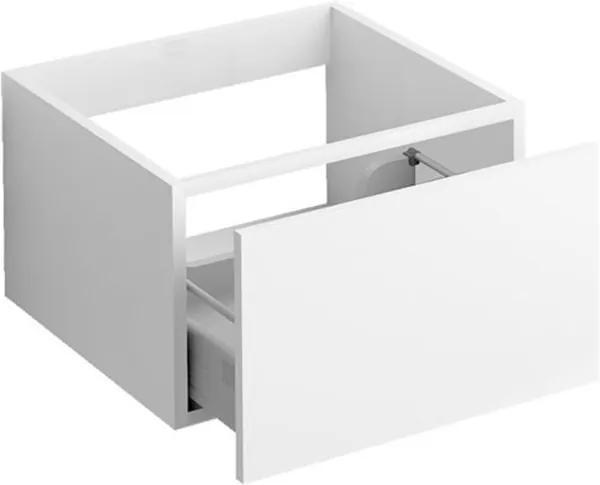 Ladekast Clou Hammock Hangend 40x50.3x30cm MDF Wit Greeploos Push-to-Open Lade