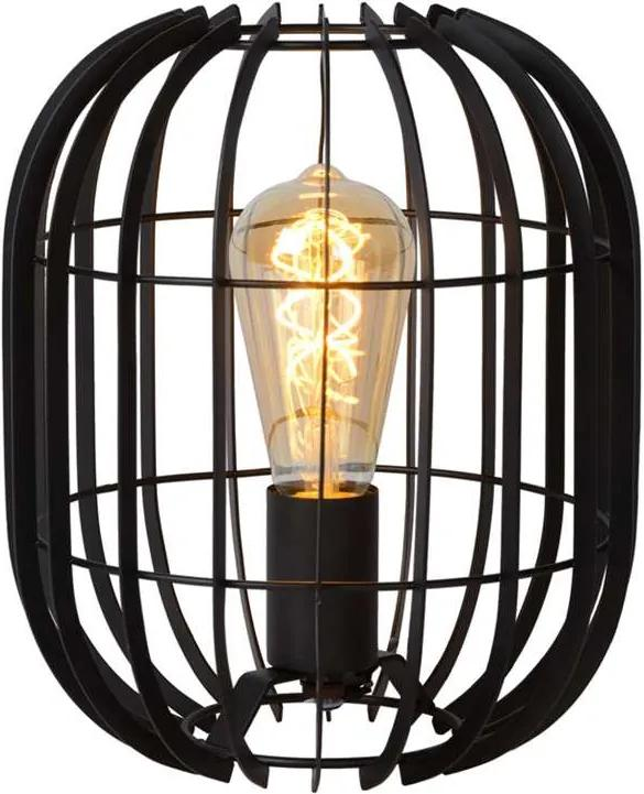 Lucide tafellamp Reda 22x22x26 cm - zwart - Leen Bakker