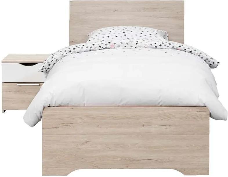 Bed Tempo - eikenkleur - 90x200 cm - Leen Bakker