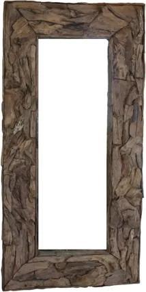 Spiegel Root - 90x90 cm - blank - teak