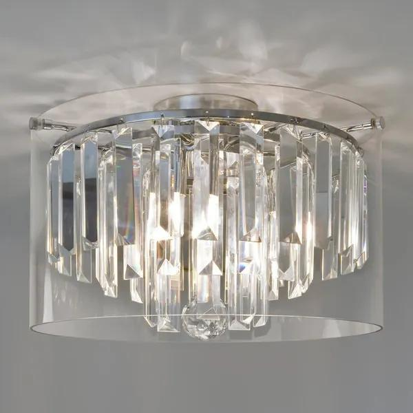 Astro Asini plafondlamp exclusief 3x G9 chroom 120x35cm IP44 staal A++ 7169