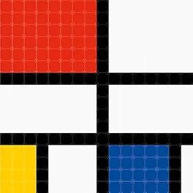 Mondriaan . Pixel - L - 160 x 180 cm