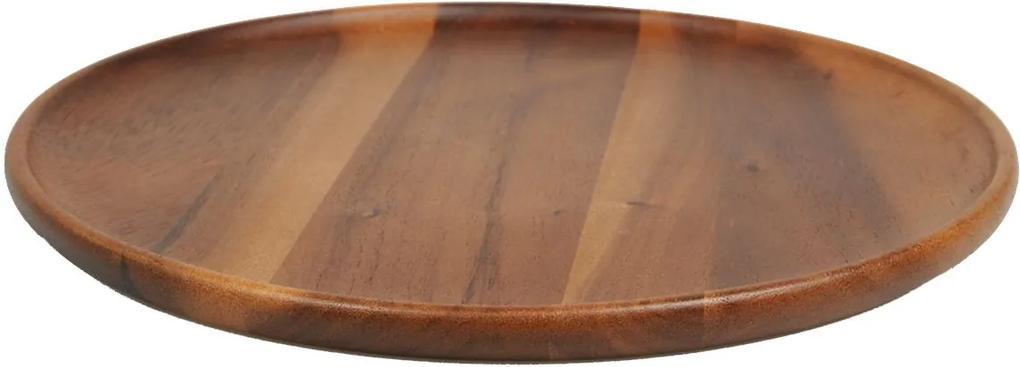 Houten bord, acacia, Ø 35 cm