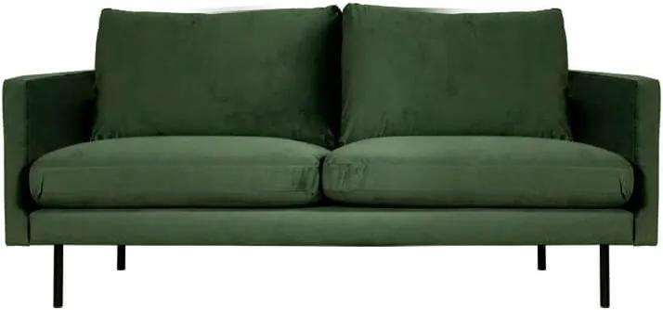 2-zits bank Violet | velours Brunei groen 45 | 1,56 mtr breed