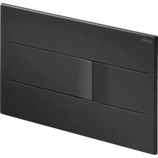 Viega Prevista bedieningsplaat visignformore201 13x22cm RVS mat zwart 773519