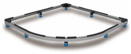 Kaldewei Arrondo frame voor douchebak maximaal 100x100cm 530000170000