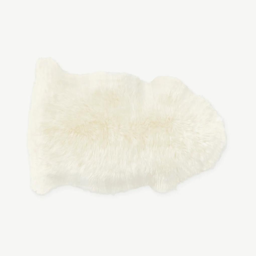 Helgar extrakleine schapenvacht, 60 x 90 cm, ivoor