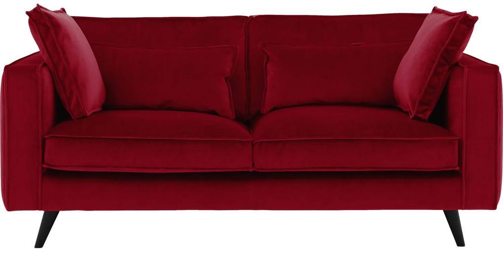 Goossens Bank Suite rood, stof, 2,5-zits, elegant chic