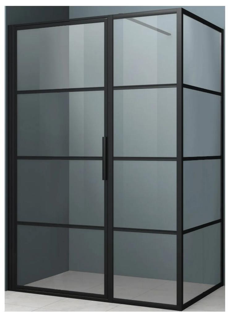Beste Merk Douchecabine.Douchecabine Driedelig Lacus Tremiti 6mm Helder Glas Mat Zwart Aluminium Profiel Alle Maten