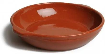 Ovenschaal rond, rood aardewerk, Ø 18 cm