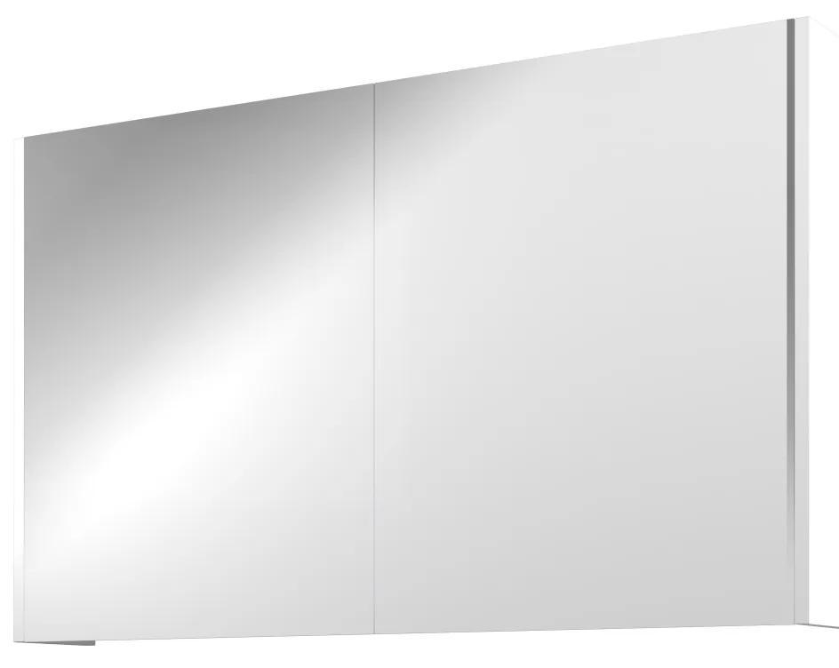 Xcellent spiegelkast met 2 glazen deuren - Mat wit - 100x60cm