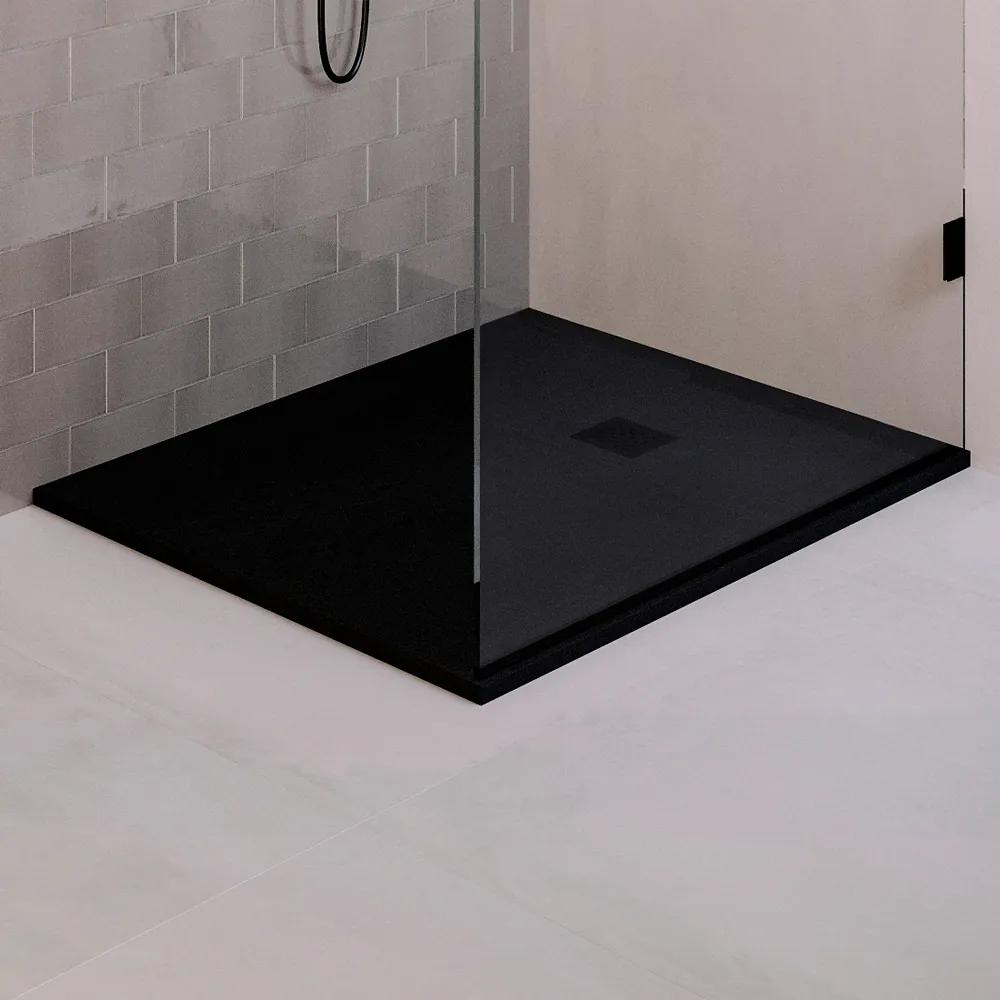 Tapo Relievo Crag douchebak 90x120cm mat zwart