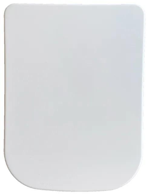 Wiesbaden Carré toiletzitting met soft close 44cm wit