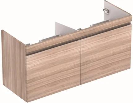 Geberit Renova Plan wastafelonderbouwkast met 2 laden v. dubbele wastafel 122.6x58.6x43.8cm iepen 869132000