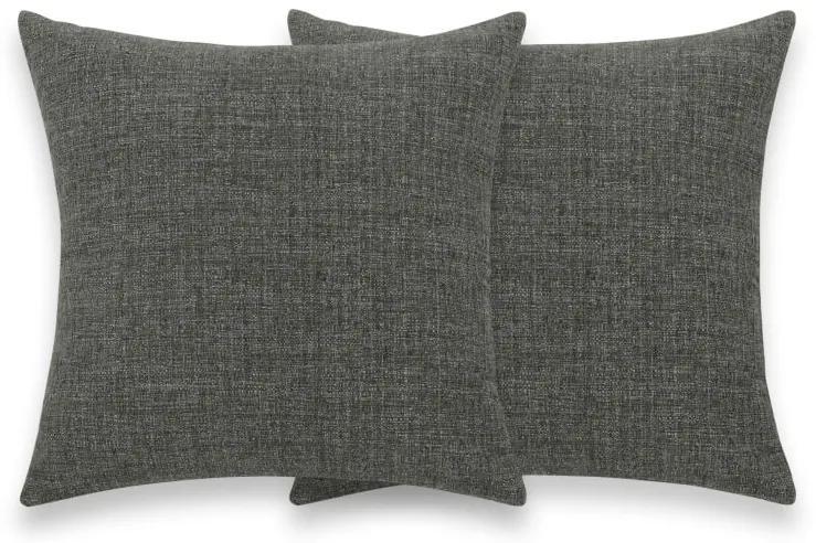 2 x Walden kussen met textuur 40 x 40 cm, bruingrijs