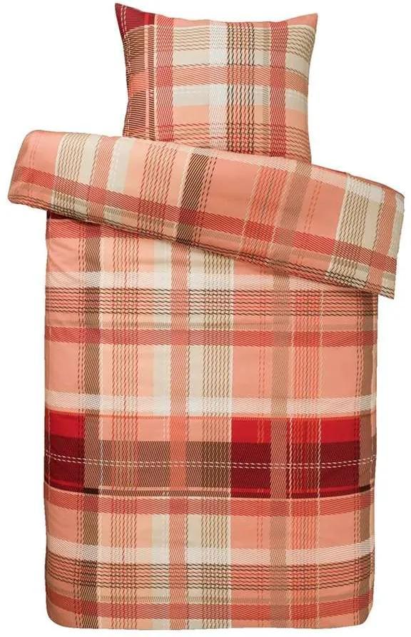 Royal dekbedovertrek Fiene - rood - 200x250 cm - Leen Bakker