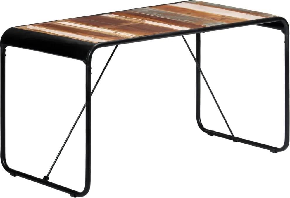 Eettafel 140x70x76 cm massief gerecycled hout