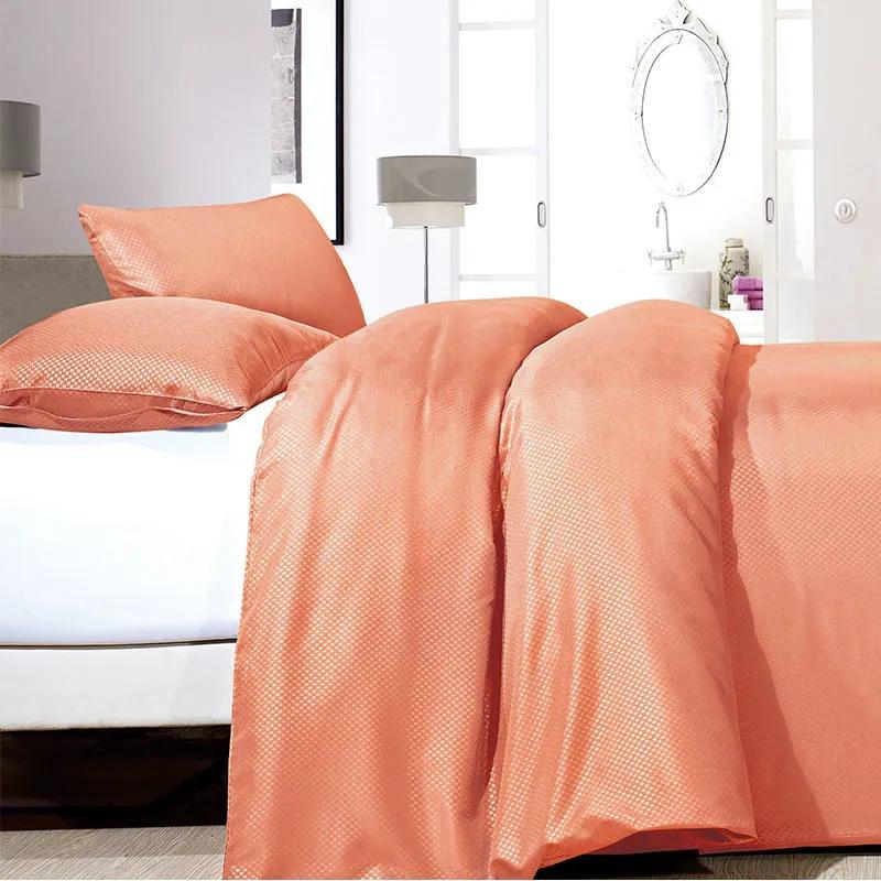 Zensation Satin Point - Oranje 1-persoons (140 x 200/220 cm + 1 kussensloop) Dekbedovertrek
