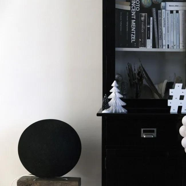 Staande Cottonball - Black - dia 25cm
