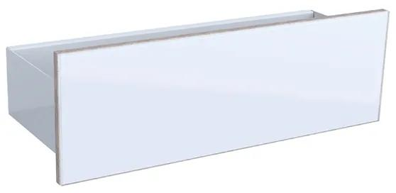 Acanto planchet 45cm glas glans wit