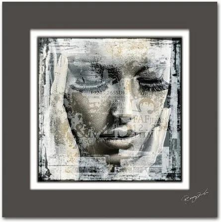 Artprint, HOME AFFAIRE, »Vrouwengezicht«, afm. (bxh): 50x50 cm