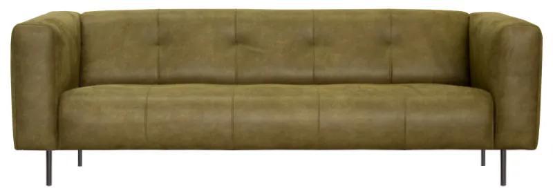 2-zits bank Almada   leer Bull groen 59   1,81 mtr breed